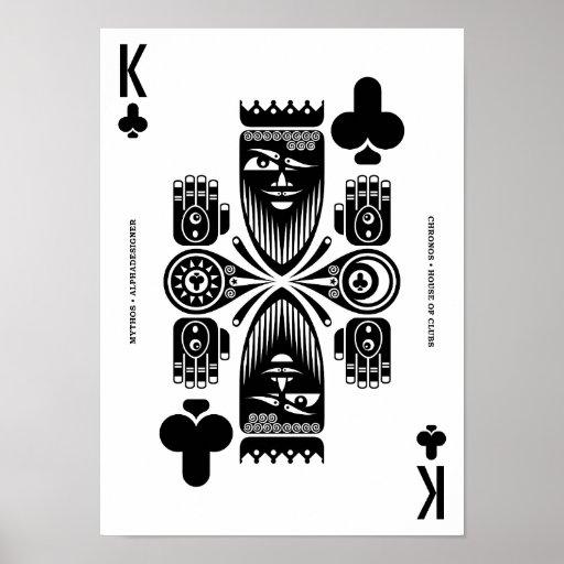 Mythos Chronos King of Clubs Print