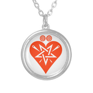 Mythos Collection Hearts Suite Symbol Round Pendant Necklace