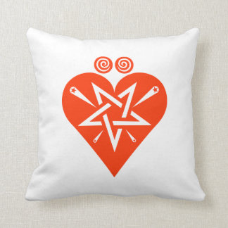 Mythos Collection Hearts Suite Symbol Throw Pillow