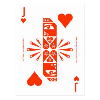 Mythos Kamadeva Jack of Hearts Postcard