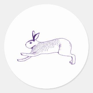 n009: rabbit round sticker