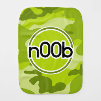 n00b camo vert clair camouflage linges de bébé