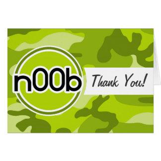 n00b camo vert clair camouflage cartes de vœux