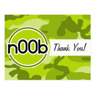 n00b camo vert clair camouflage cartes postales