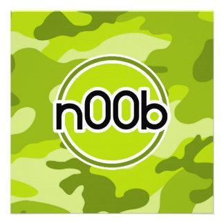 n00b camo vert clair camouflage faire-parts