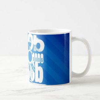 n00b; Royal Blue Stripes Mug