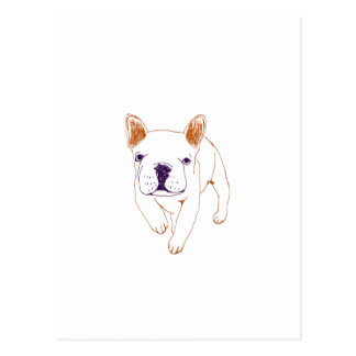 n014: french bulldog postcard