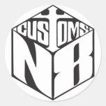 N8 DICE 丸形シール・ステッカー