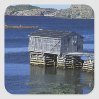 N.A., Canada, Newfoundland, Durrell. Fishing Square Sticker