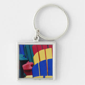 N.A. Canada, Nova Scotia, Bridgewater. Colorful 3 Silver-Colored Square Keychain