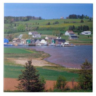 N.A. Canada, Prince Edward Island. Boats are Ceramic Tile