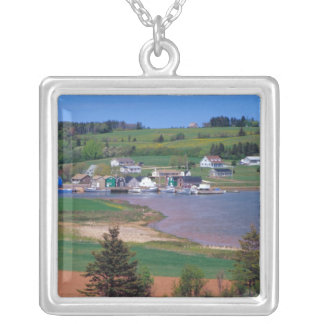 N.A. Canada, Prince Edward Island. Boats are Silver Plated Necklace