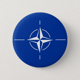 N.A.T.O. flag 2 Inch Round Button