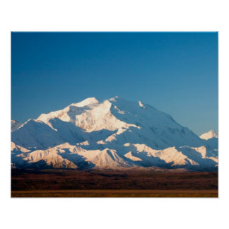 N.A., USA, Alaska.  Mt. McKinley in Denali Poster