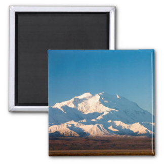 N.A., USA, Alaska.  Mt. McKinley in Denali Square Magnet