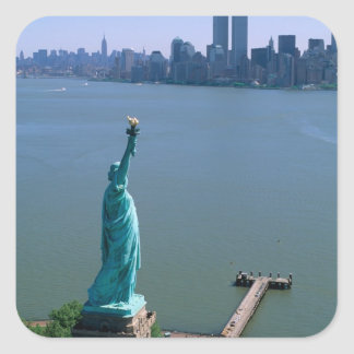 N.A., USA, New York, New York City. The Statue Square Sticker