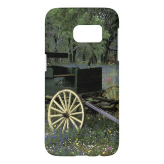 N.A., USA, Texas, Devine, Old wagon Samsung Galaxy S7 Case