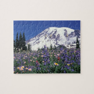 N.A., USA, Washington Mt. Rainier and Jigsaw Puzzle