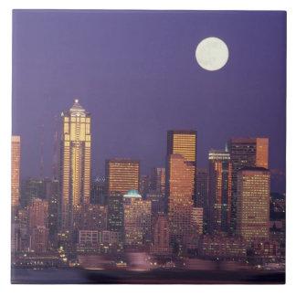 N.A., USA, Washington, Seattle Seattle skyline Ceramic Tiles