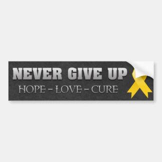 N abandonnez jamais la conscience de Cancer d enfa Adhésif Pour Voiture