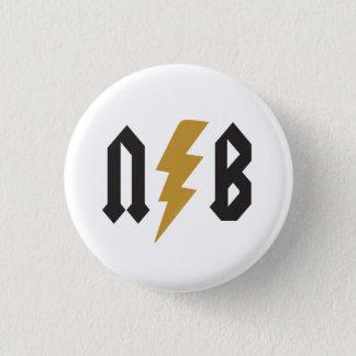 N.B. Lightning 1 Inch Round Button