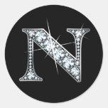 """""""N"""" Diamond Bling Sticker"""