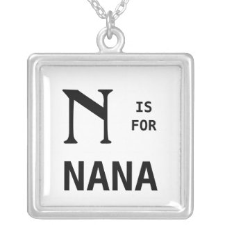N Is For Nana Monogram Pendant Monogrammed