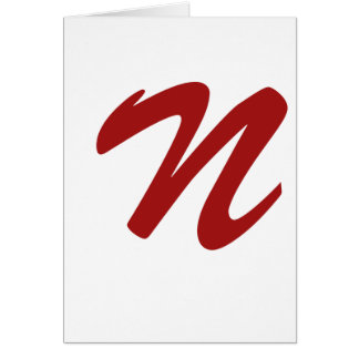 N is For Nasty Card