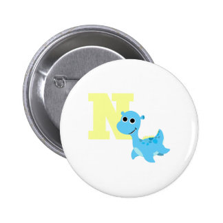 N is for Nessie 2 Inch Round Button