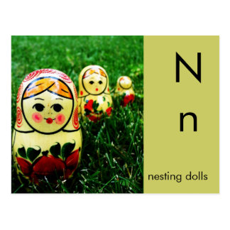N is for Nesting Dolls Postcard