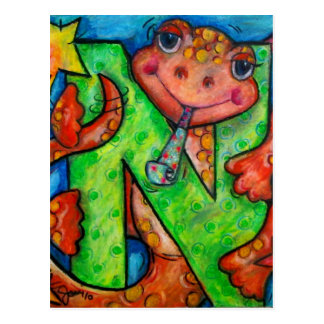 N is for Newt Postcard