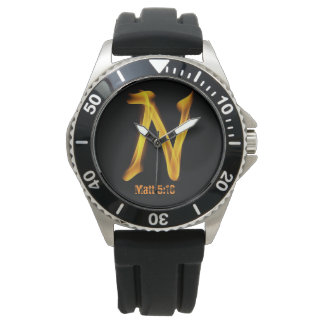 """N"" Men's Stainless Steel Watch"