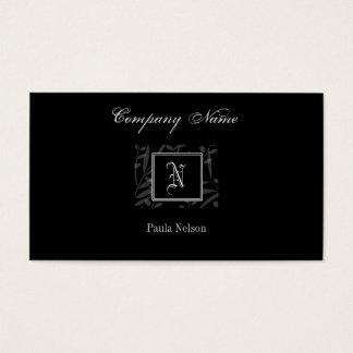 N Monogram Business Card