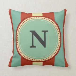 'N' Monogram Throw Pillow