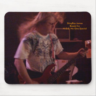 N.O.S. No One Special Bassist StingRay James Mouse Pad
