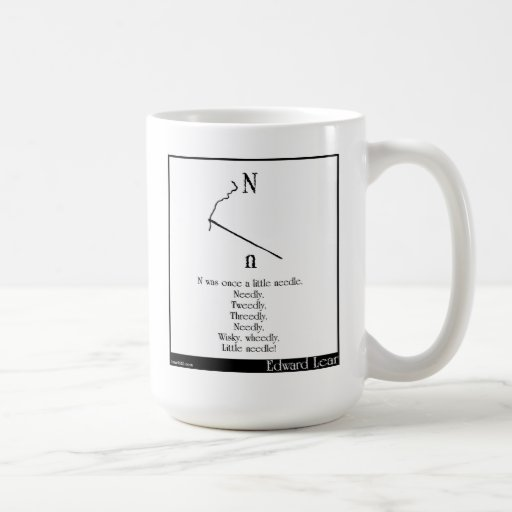 N was once a little needle coffee mugs