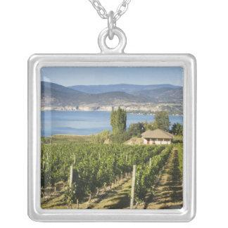 NA; Canada; British Columbia; Okanagan Valley; Square Pendant Necklace