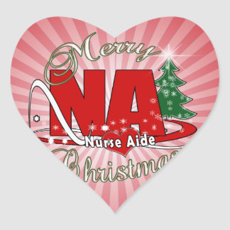 NA CHRISTMAS NURSE AIDE HEART STICKER