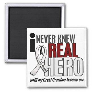 N'a jamais connu vrais un grand cancer de poumon d magnet carré