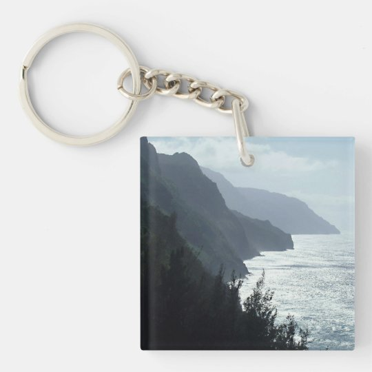 Na Pali Coast Double-Sided Square Acrylic Keychain