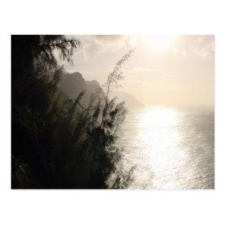 Na Pali Coast State Park sun Hawaii Postcard