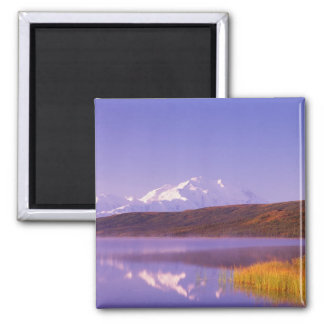 NA, USA, Alaska, Denali NP, Wonder Lake, Mt. Square Magnet