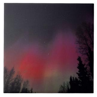 NA, USA, Alaska, Fairbanks. Curtains of purple, Tile