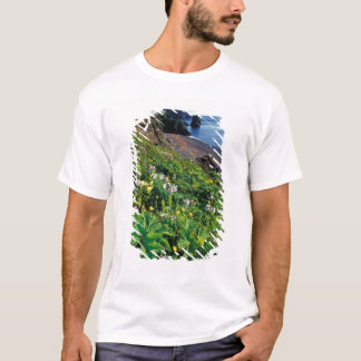 NA, USA, Alaska, Semidi Islands, Wildflowers T-Shirt