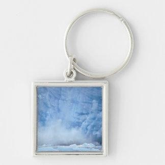 NA, USA, Alaska, Southeast Alaska, Tracy Arm, Silver-Colored Square Keychain