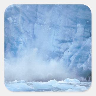 NA, USA, Alaska, Southeast Alaska, Tracy Arm, Square Sticker