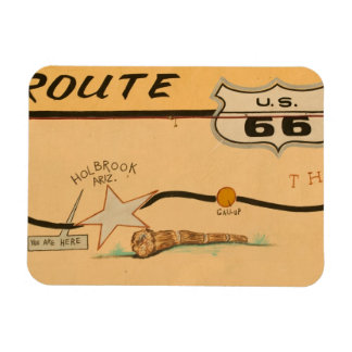 NA, USA, Arizona, Holbrook Route 66 road mural Rectangular Photo Magnet