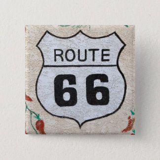 NA, USA, Arizona, Holbrook Route 66 street sign 2 Inch Square Button