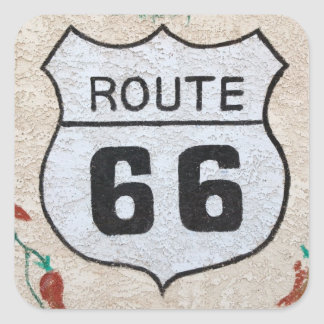 NA, USA, Arizona, Holbrook Route 66 street sign Square Sticker