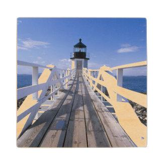 NA, USA, Maine, Port Clyde.  Marshall Point 2 Wood Coaster